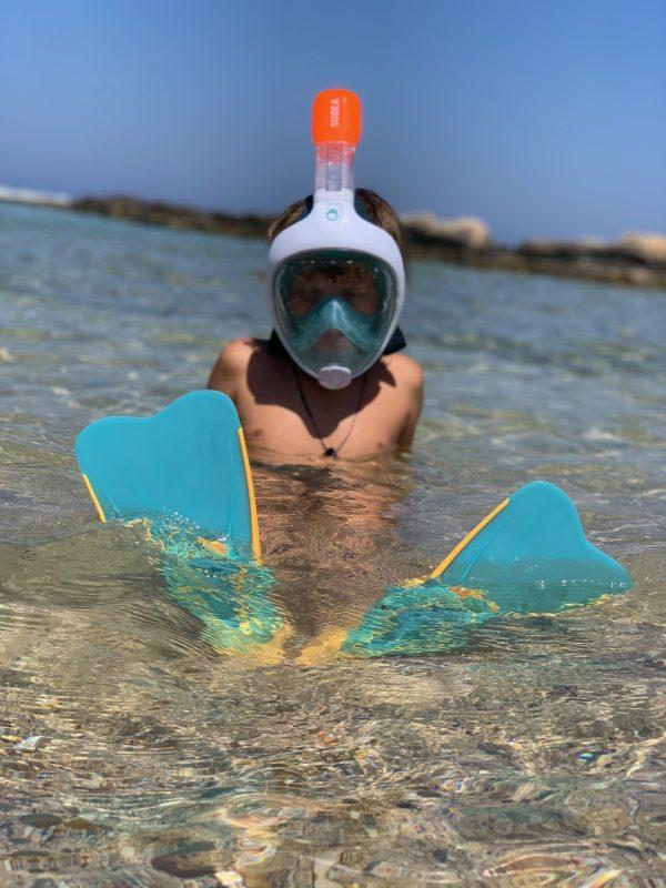 Maschera per respirare sott'acqua: Easybreath di Decathlon